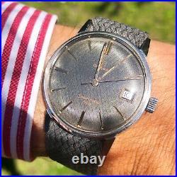 Omega Seamaster 600 Vintage 136.011 Rare Carbon Fiber Perlon linen Dial
