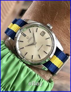 Omega Seamaster Automatic Steel Mens 1966 rare Jumbo 35mm Nato Vintage watch