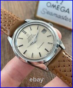 Omega Seamaster Rare Chronometer Vintage Men's Watch 1969, Serviced + Warranty