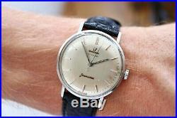 Omega Seamaster Türler Turler handwind steel 1950s patina vintage rare watch uhr