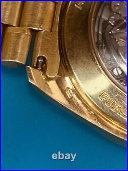 Omega Speedmaster Apollo XI Chronograph Yellow Gold Fabolous Rare-Vintage (551)