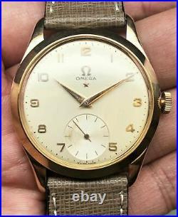 Omega Teddington 18k Pink Gold Vintage Ref. 2619 Mens 36mm Dress Watch! Rare