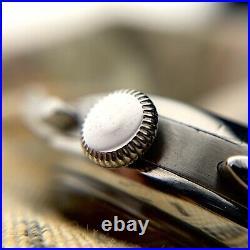 Omega Tissot 33.3 Chronograph Jumbo military vintage watch rare black dial