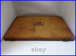Omega Watch Parts Wood Box Rare Vintage 1920's