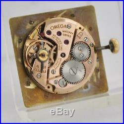Original Omega De Ville Rare Ref 111.023 Square 18k Solid Gold Swiss Vintage