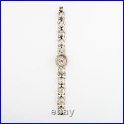 Orologio donna vintage Omega'80 oro 14 kt raro Rare Gold diamond luxury Watch