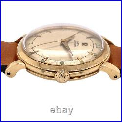 Pair Of Man's Vintage Watches Rare Le Coultre Futurematic & Omega Automatic 50's