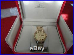 Q172 Rare Vintage 1960's Gold Omega Constellation automatic day date mens watch