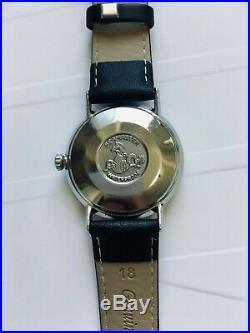RARE! 1968 OMEGA Seamaster De Ville DON DRAPER watch Automatic Black Dial