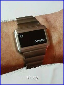 RARE 70s RETRO VINTAGE OMEGA TIME COMPUTER TC3 LED CONSTELLATION MENS WATCH