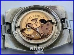 RARE OMEGA GENEVE Automatic Cal 684 Ladies BLUE GRADATION DIAL Not Working