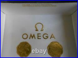 RARE VINTAGE WATCH BOX FOR OMEGA SPEEDMASTER IN SILVER COLOR 60s