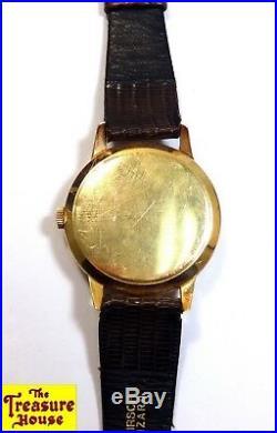RARE! Vintage OMEGA Jumbo 18K Rose Gold Honeycomb Dial Cal 265 2687 Wristwatch
