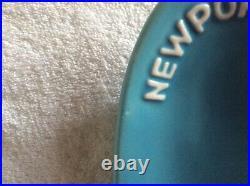 RARE Vintage Omega Newport promotional swish turquoise ashtray dish Mid Century