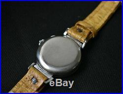RARE Vintage Omega Tissot Chronograph watch 1937 big black dial cal 33.3 15TL