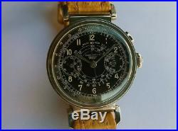 RARE Vintage Omega Tissot Chronograph watch from 1937 black dial caliber 33.3