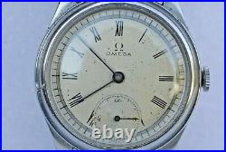 RARE-Vintage Omega manual wind, 15 jewels, stainless steel case, 1934s men watch