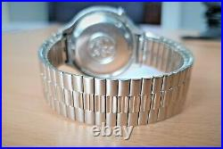 RARE! Vintage SS Omega f300 Cone Seamaster Chronometer Tuning Fork watch