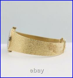 RARE Vtg Omega 14k Yellow Gold Fire Opal Face & Diamond Cal. 625 Women's Watch
