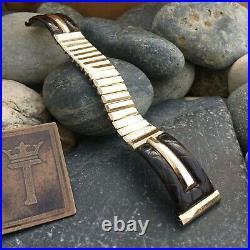 Rare 10k Gold-Filled & Alligator Premium Kreisler USA 1950s Vintage Watch Band