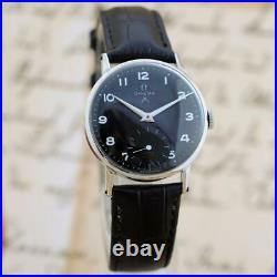Rare 1939' Omega Manual Wind Original Vintage Midsize Watch Black Military Dial