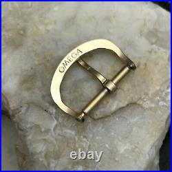 Rare 1940s-1950s Omega 16mm Yellow Gold-Filled Vintage Watch Band Buckle