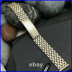 Rare 1940s 5/8 JB Champion Basketweave Mesh 12k Gold-Filled Vintage Watch Band