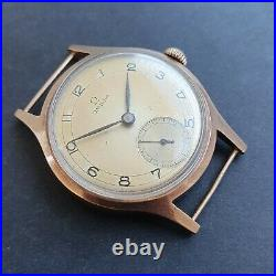 Rare 1940s Tre Tacche Omega 9ct Rose Gold vintage watch