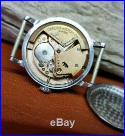 Rare 1950's Omega Seamaster Black Dial Cal351 Auto Bumper Man's Watch