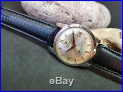 Rare 1960 Omega Calendar Silver Dial Cal503 Date Automatic Man's Watch