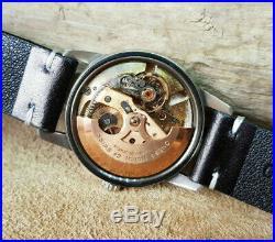 Rare 1960 Omega Seamaster Calendar Blue Dial Cal503 Date Auto Man's Watch