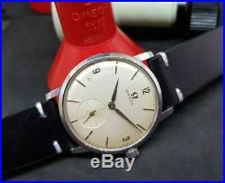 Rare 1962 Omega Seamaster Sub Second Cal510 Silver Dial Man's Watch