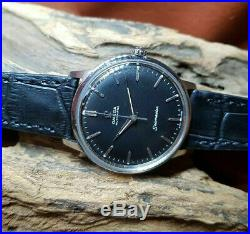 Rare 1965 Omega Seamaster Black Dial Date Auto Cal552 Man's Watch