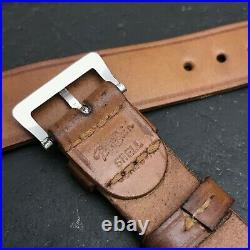 Rare 20mm Patina Shell Cordovan Long Peter Bain nos 1940s Vintage Watch Band
