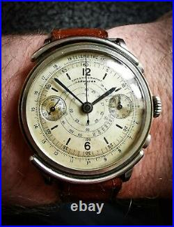 Rare 40 Antique Landeron Hahn Chronograph Vintage Watch manual omega breitling