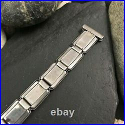 Rare Art Deco Sterling Silver 1930s Vintage Watch Band 5/8 nos Amcraft USA
