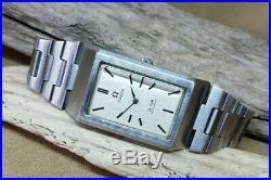 Rare Chunky Vintage Omega De Ville Silvr Dial Auto Ss Bracelet Man's Watch