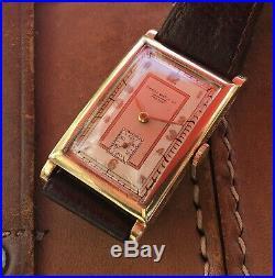Rare Huge Vintage Omega Tissot Gents 1930s Wristwatch