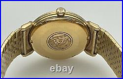 Rare OMEGA Constellation Grand Luxe 18K Yellow Gold Pie Pan Vintage 1960s Watch