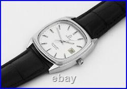 Rare OMEGA Seamaster Date Cal 1342 Quartz S/ Steel Vintage Mens Wrist Watch