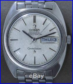 Rare Omega Constellation Automatic Vintage Watch Linen Dial, Serviced + Warranty