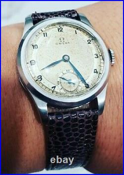 Rare Omega Military WWII 1935 Cal. 26.5 SOB Sector Dial 31mm Mens Vintage Watch