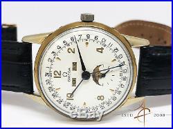 Rare Omega Triple Date Moonphase Calendar Vintage Watch