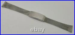 Rare Vintage 18 MM Omega Mesh Stainless Steel 1120/116 Bracelet Band Strap