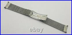 Rare Vintage 18 MM Omega Mesh Stainless Steel 1560 Bracelet Band Strap