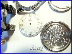 Rare Vintage 1938 Omega Military Manual Wind Luminous Dial Watch Service 2300/1