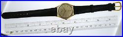 Rare Vintage 1950 Omega 14K Yellow Gold 35mm Thin Cal 28 Watch 14190 Jumbo