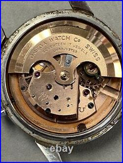 Rare Vintage 1956 OMEGA SEAMASTER Stainless Steel 2846 Watch 17J M. 500