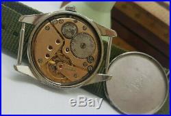 Rare Vintage 1958 Omega Ranchero 2990 1 Cal267 Black Dial Man's Watch