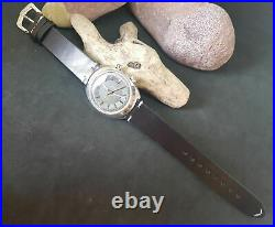 Rare Vintage 1968 Omega Chronostop Driver Grey Dial Manual Wind Man's Watch